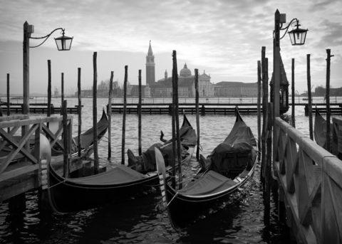 Gondolas in Venice Canvas Picture Sydney