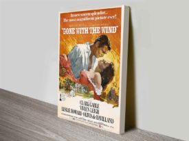 Gone with the Wind Movie Poster Canvas Print