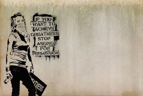 Banksy Achieve Greatness Street Art Prints Melbourne
