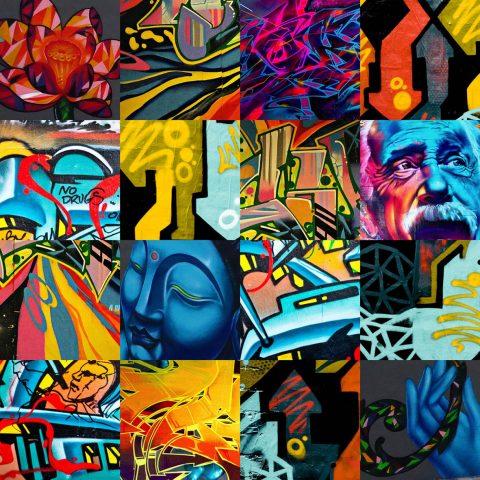 Graffiti Collage on Canvas Melbourne Australia