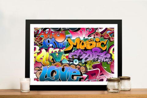 Graffiti Pop art Framed Wall Artwork