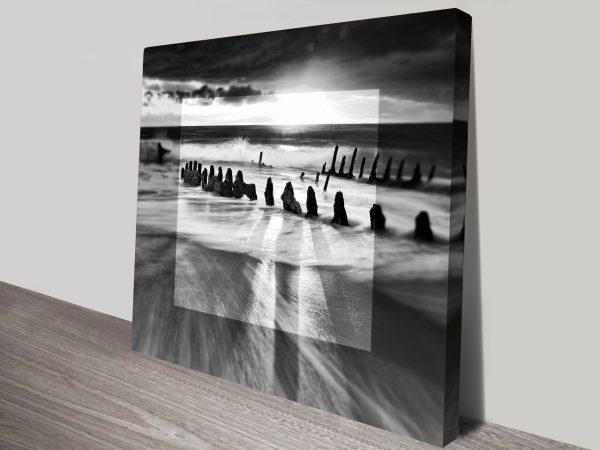 Gray Sunrise in Focus Print on Canvas