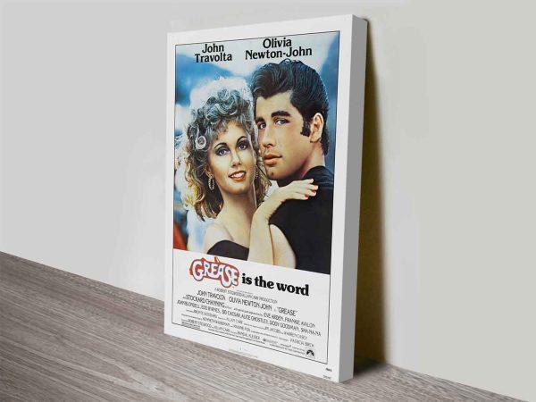 Grease Vintage Movie Poster Canvas Print