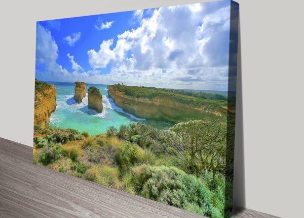 Great Ocean Road Australian Landscape Stretched Canvas Art