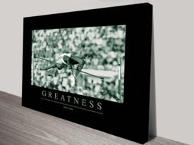 Greatness Motivational Canvas Wall Art