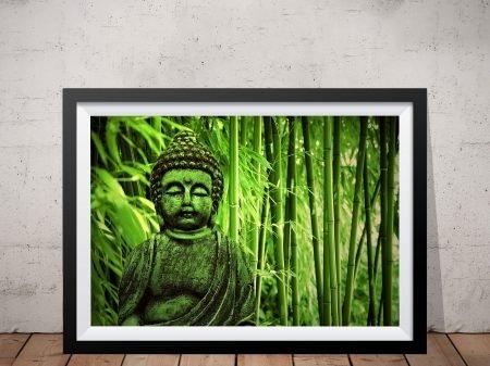 Green Buddha Framed Wall Art