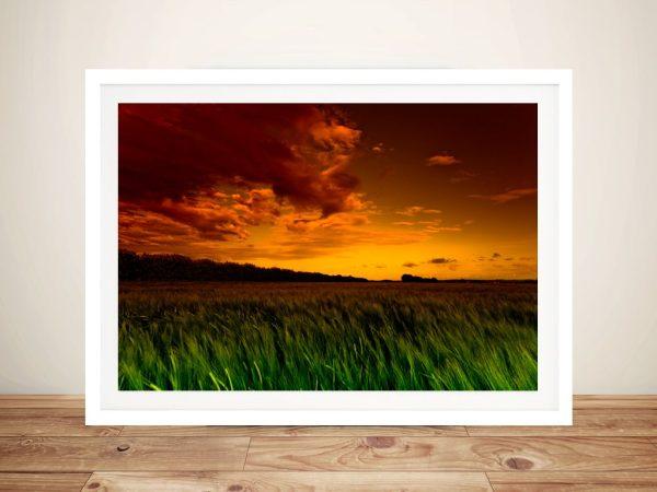 Green Fields Landscape Giclee Photo Canvas Art