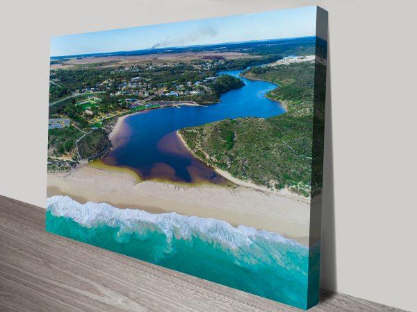 Guilderton From the-Ocean beach canvas print