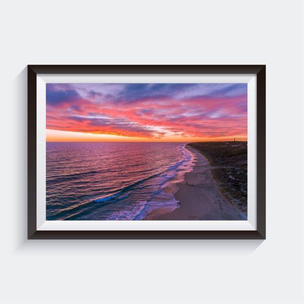 Guilderton Sunset Photo Framed Wall Art Australia