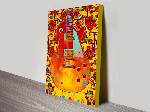 guitar pop art print