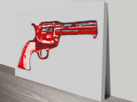 Gun Pop Art By Andy Warhol Vintage