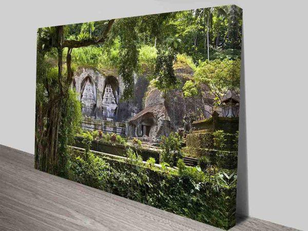 Gunung Kawi Temple Bali Indonesia Travel Tranquility Canvas Wall Art