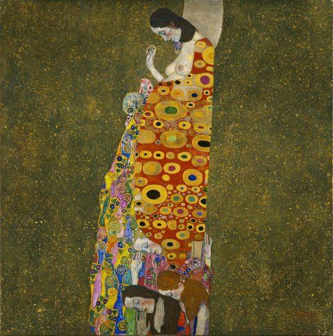 Hope II by Gustav Klimt Canvas Wall Picture Australia