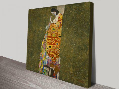 Hope II by Gustav Klimt Wall Art Canvas Australia
