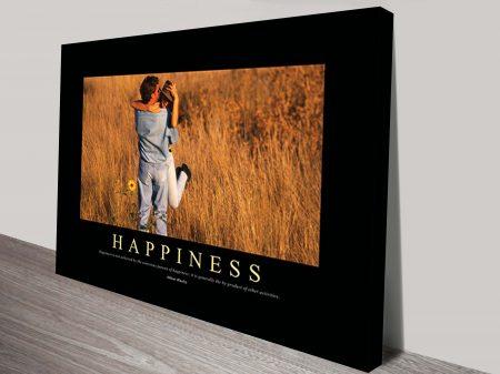 happiness motivational wall art