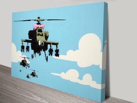 Happy Copters Banksy Canvas Prints
