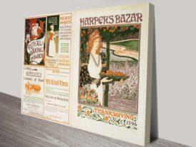 Harpers Bizar Vintage Poster Framed Print