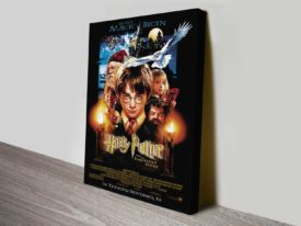 Sorcerers Stone Movie Poster on Canvas