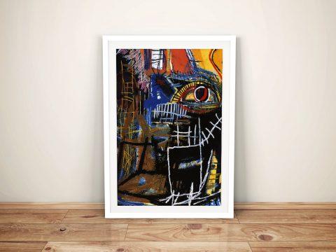 Head Jean Michel Basquiat Framed Wall Art Print