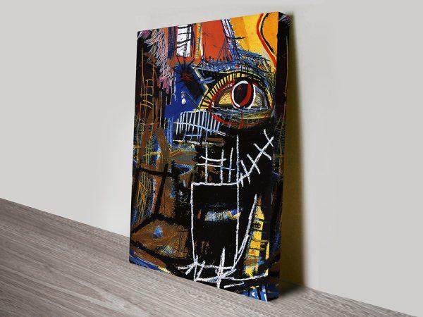 Head Jean Michel Basquiat Vintage Abstract Wall Art Print