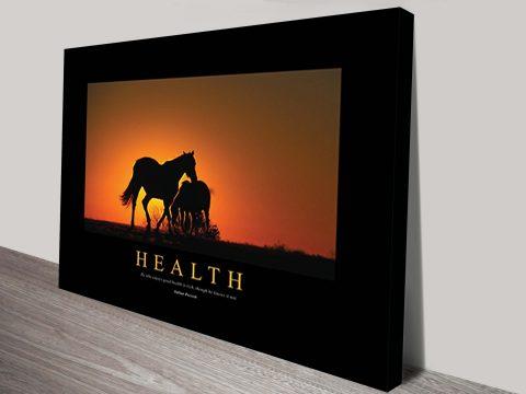 Health Motivational Art on Canvas