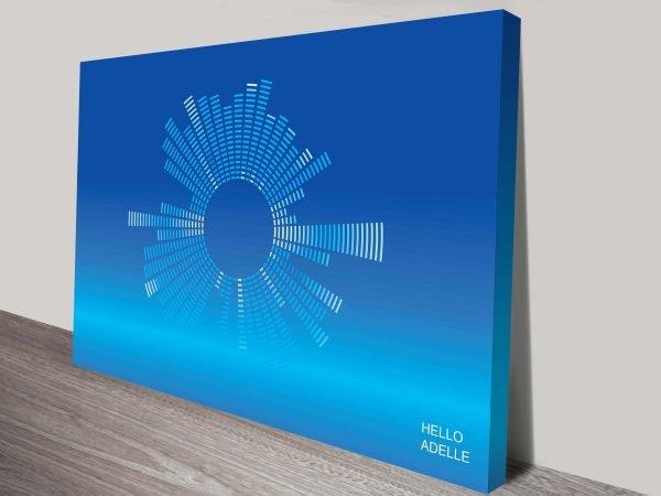 Hello by Adele Song Lyrics Soundwave Art Prints