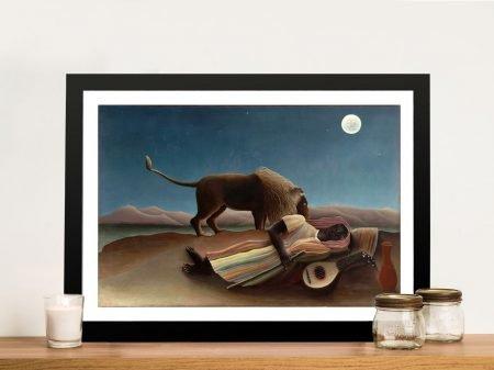 Henri Rousseau Sleeping Gypsy Canvas Art