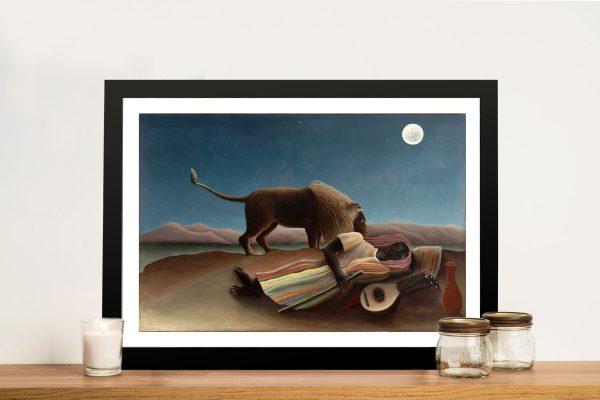 Henri Rousseau Sleeping Gypsy Framed Wall Art Australia