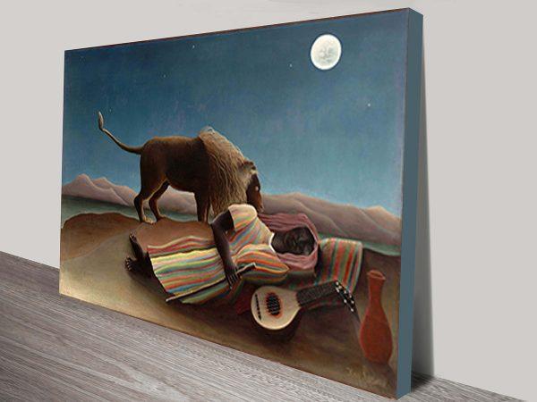 Henri Rousseau Sleeping Gypsy Classical Wall Art On Canvas