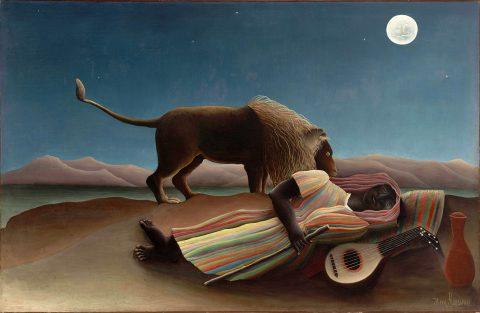 Henri Rousseau The Sleeping Gypsy Canvas Art Print