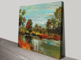 Hidden Pond Hues I Wall Decor Online Unframed Canvas