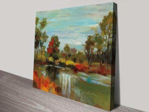 Hidden Pond Hues I Wall Decor Online Unframed Canvas