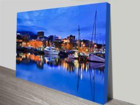 Hobart sullivans cove canvas print