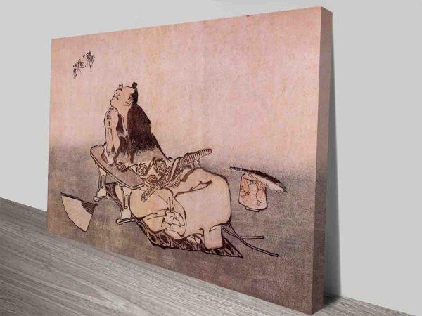 A Philosopher Looking At Butterflies Hokusai Custom Photo Wall Art