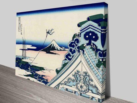 Buy Hokusai Asakuga Honganji Temple Art
