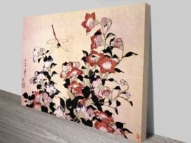 Hokusai Chinese Bell Flower and Dragon-Fly Traditional Japanese Wall Art