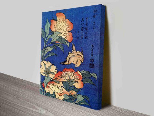 Buy Hokusai Flowers Traditional Japanese Art