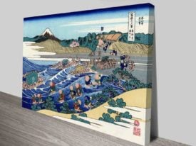 Hokusai Fuji From Kanaya On Tokaido Traditional Art Online