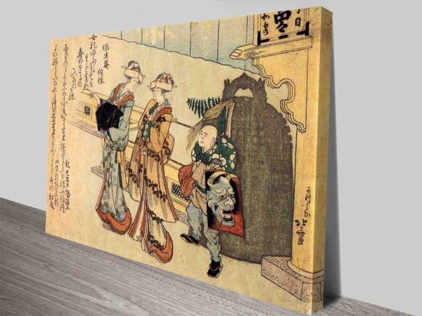Lady Classical Japanese Art By Hokusai