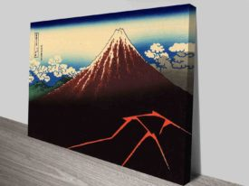 Hokusai Lightning Below the Summit Canvas Art