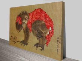 Buy Japanese Hokusai Monkey Canvas Art