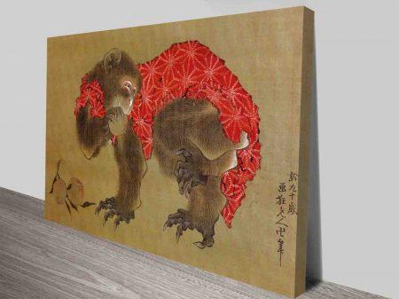 Buy Japanese Hokusai Monkey Canvas Art