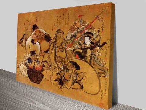 Seven Gods of Fortune Classical Japanese Art