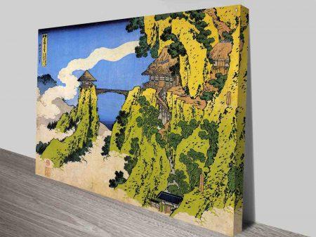 Temple Bridge Japanese Art Canvas Online
