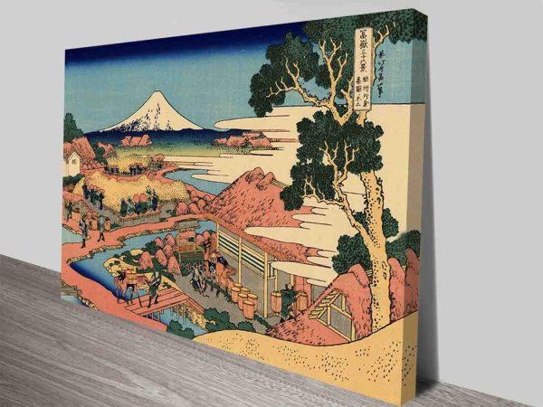 The Tea Plantation Natural Art Concepts By Hokusai