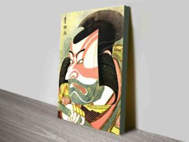 The Actor Ixhikawa Ebizo Classic Japanese Art Canvas