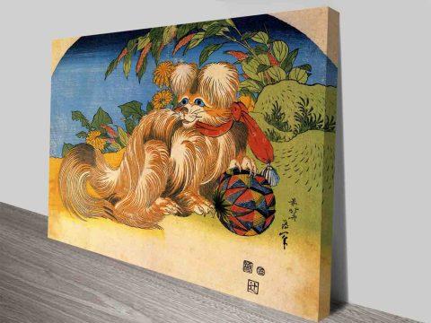Tschin - The Pet Dog Cultural Art By Katsushika Hokusai