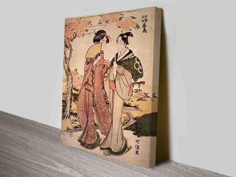 Two Women Cultural Japanese Art Concepts