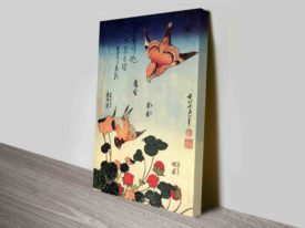 Katsushika Hokusai Wild Strawberries and Birds Art Prints
