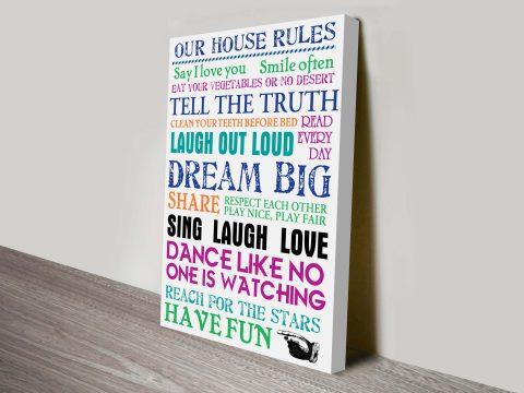 House Rules Scroll Custom Art
